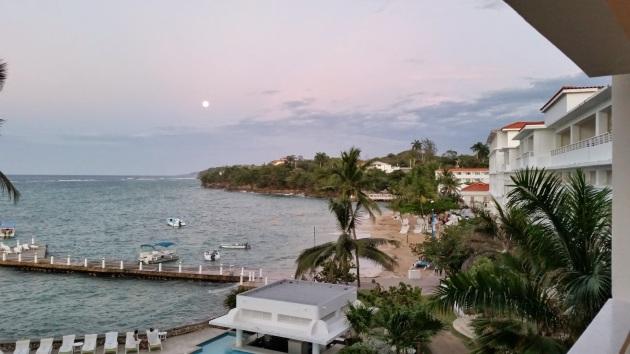 Overlooking the resort