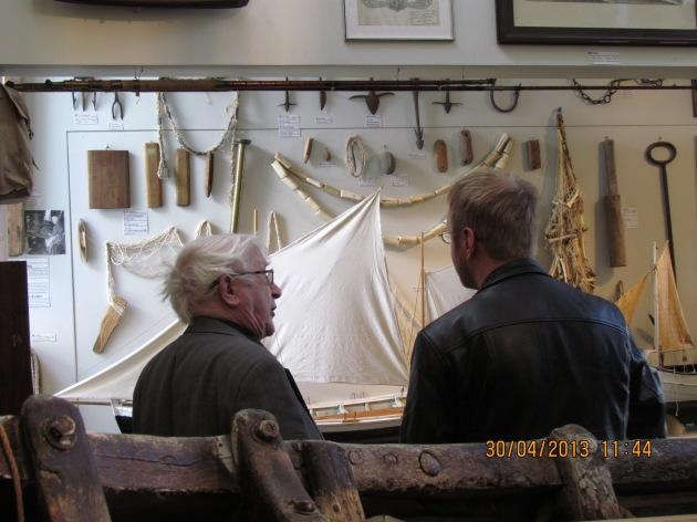 Thordur Tomasson explaining the exhibit to Ross