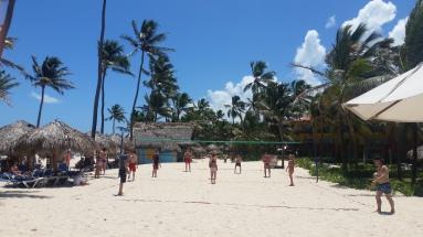 Beach volleyball oragnized by the resort