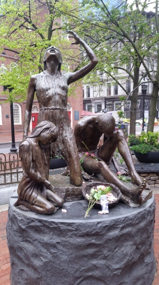 Irish Famine Memorial along the Freedom Trail