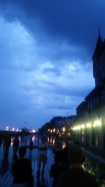 Rainy night view of the Promenade